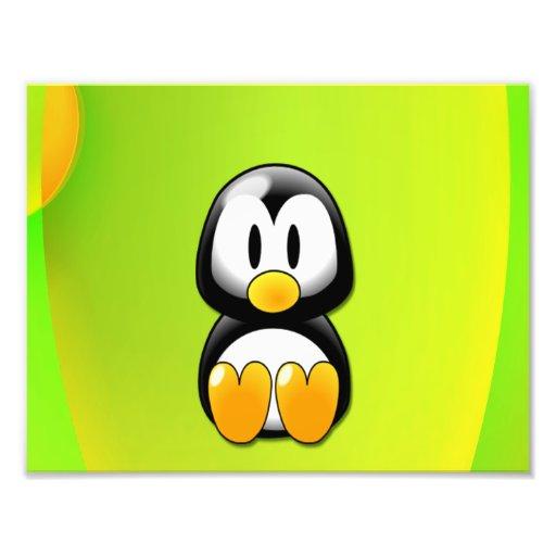 Pingüino del dibujo animado fotografías