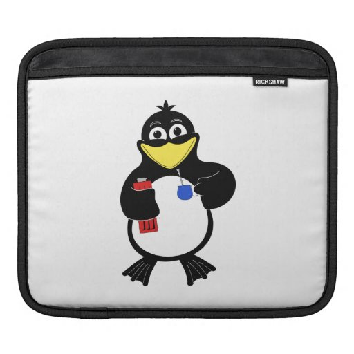 Pingüino del dibujo animado funda para iPads