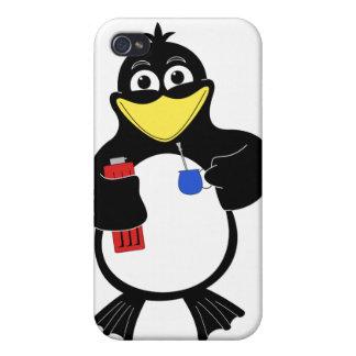 Pingüino del dibujo animado iPhone 4/4S funda