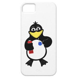 Pingüino del dibujo animado iPhone 5 carcasas