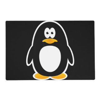 Pingüino del dibujo animado tapete individual