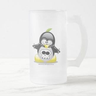 Pingüino del eje de balancín punky jarra de cerveza esmerilada
