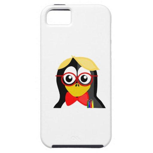 Pingüino del empollón iPhone 5 carcasa