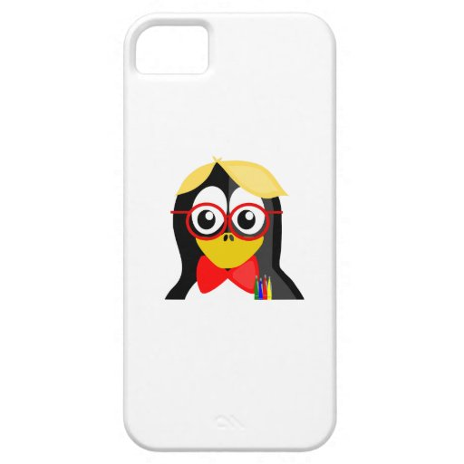 Pingüino del empollón iPhone 5 coberturas