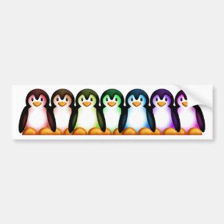 Pingüino del espectro pegatina para auto