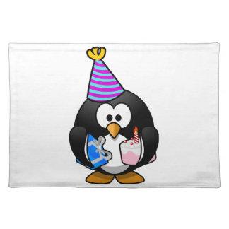 Pingüino del fiesta mantel individual