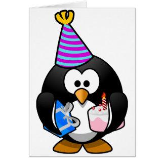 Pingüino del fiesta tarjeta de felicitación