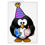 Pingüino del fiesta tarjetón