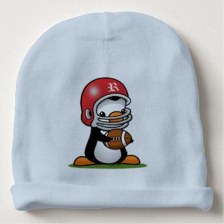 Pingüino del fútbol gorrito para bebe