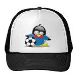 Pingüino del fútbol gorros
