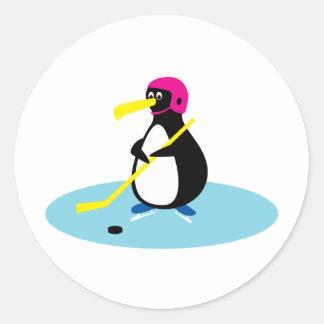 Pingüino del hockey sobre hielo pegatinas