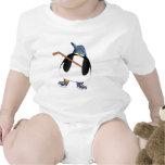 Pingüino del hockey trajes de bebé