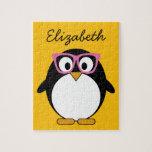 Pingüino del inconformista - rosa lindo del amaril puzzles