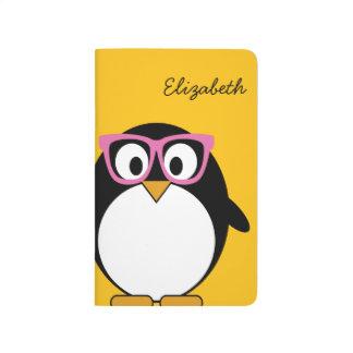 Pingüino del inconformista - rosa lindo del cuaderno grapado