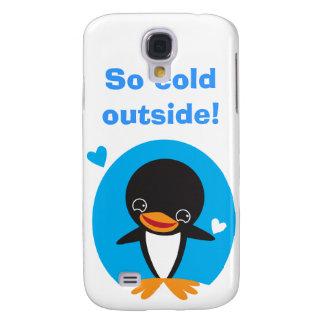 Pingüino del invierno funda para galaxy s4