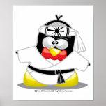 Pingüino del karate poster
