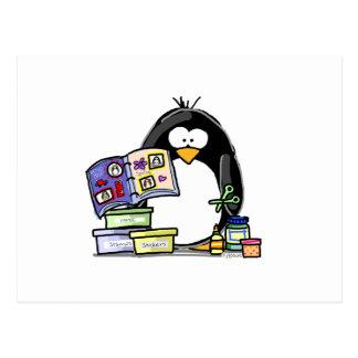 Pingüino del libro de recuerdos tarjetas postales
