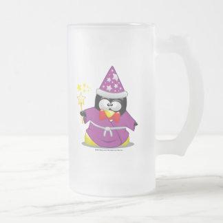 Pingüino del mago taza de café