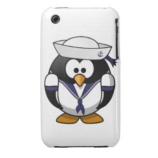 Pingüino del marinero Case-Mate iPhone 3 funda