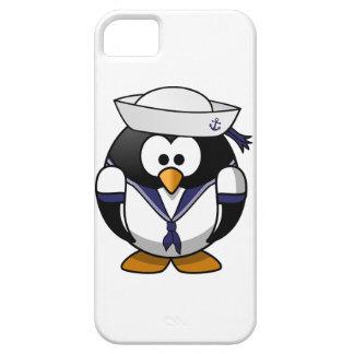 Pingüino del marinero funda para iPhone 5 barely there