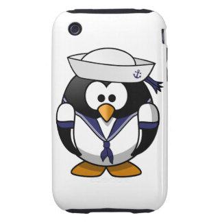 Pingüino del marinero iPhone 3 tough fundas