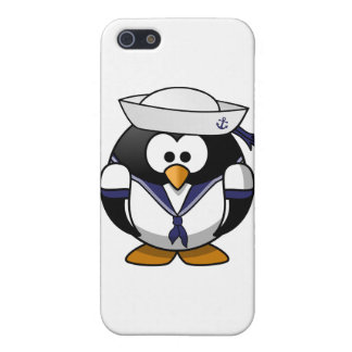 Pingüino del marinero iPhone 5 funda