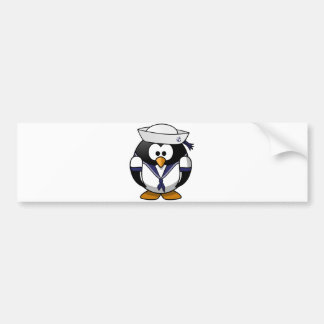 Pingüino del marinero pegatina para auto