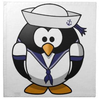 Pingüino del marinero servilletas de papel
