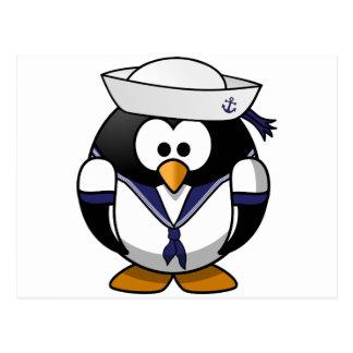 Pingüino del marinero tarjetas postales