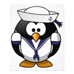 Pingüino del marinero tarjetón