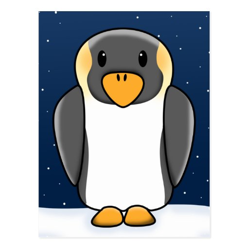 Pingüino del navidad de Kawaii Tarjetas Postales