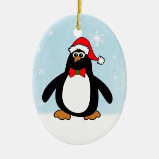 Pingüino del navidad ornato