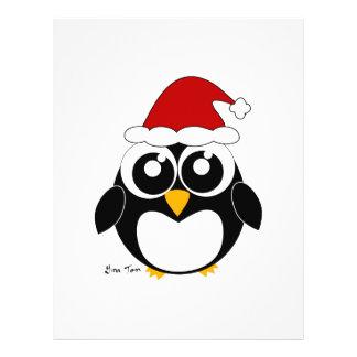 Pingüino del navidad tarjeton
