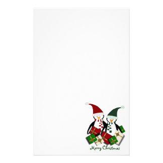 Pingüino del navidad inmóvil papeleria personalizada