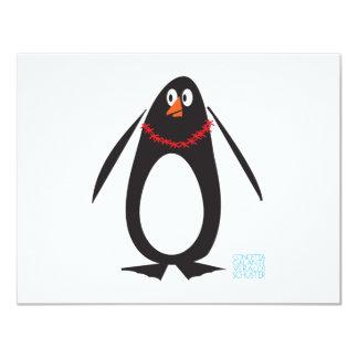 Pingüino del navidad invitaciones personalizada