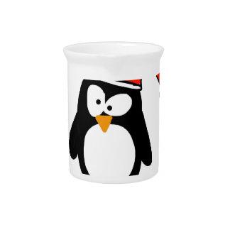 Pingüino del navidad jarras de beber
