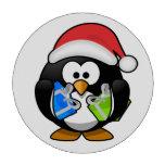 Pingüino del navidad juego de fichas de póquer