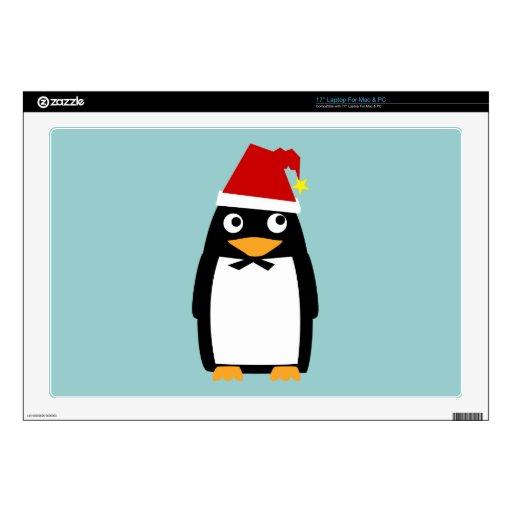 Pingüino del navidad piel del ordenador portátil d portátil 43,2cm skins