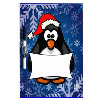 Pingüino del navidad pizarra blanca