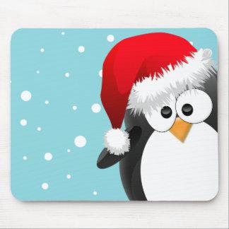 Pingüino del navidad tapetes de ratón