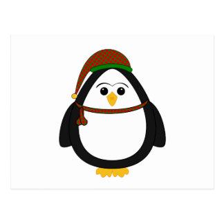 Pingüino del navidad tarjetas postales