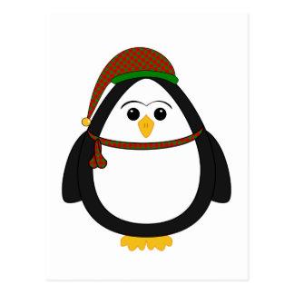 Pingüino del navidad tarjeta postal