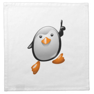Pingüino del número uno servilletas