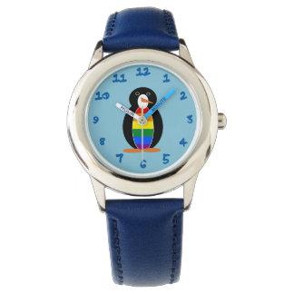 Pingüino del orgullo gay -- Pingüino de LGBT Reloj