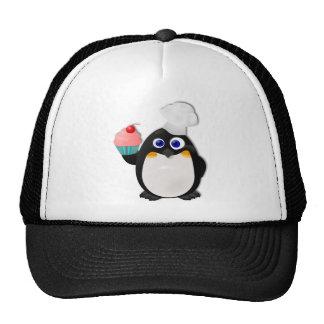 Pingüino del panadero con la magdalena II Gorras De Camionero