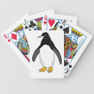 Pingüino del parque zoológico baraja cartas de poker