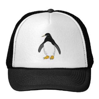 Pingüino del parque zoológico gorro