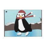 Pingüino del patinaje de hielo iPad mini carcasa