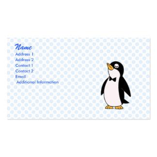 pingüino del pepe tarjetas de visita