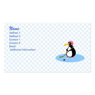 Pingüino del Petra Plantilla De Tarjeta De Negocio